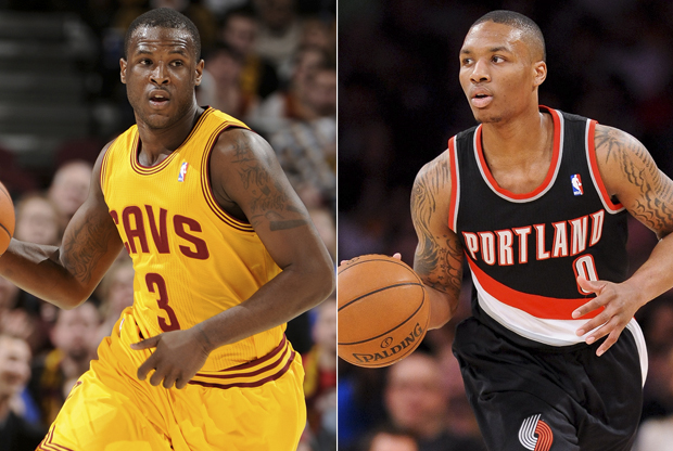 Dion Waiters y Damian Lillard./ Getty Images