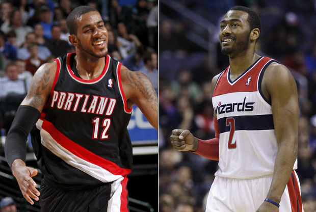 LaMarcus Aldridge y John Wall./ Getty Images