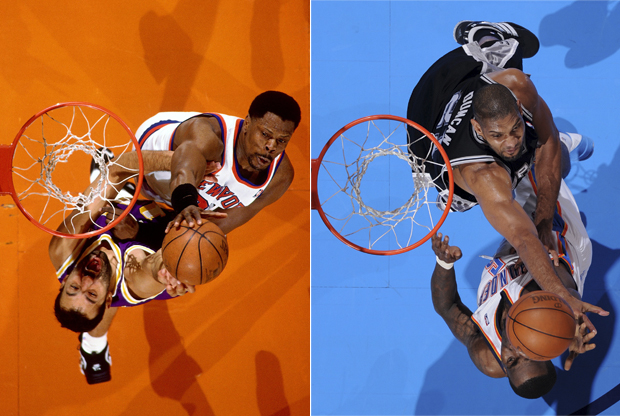 Patrick Ewing y Tim Duncan./ Getty Images