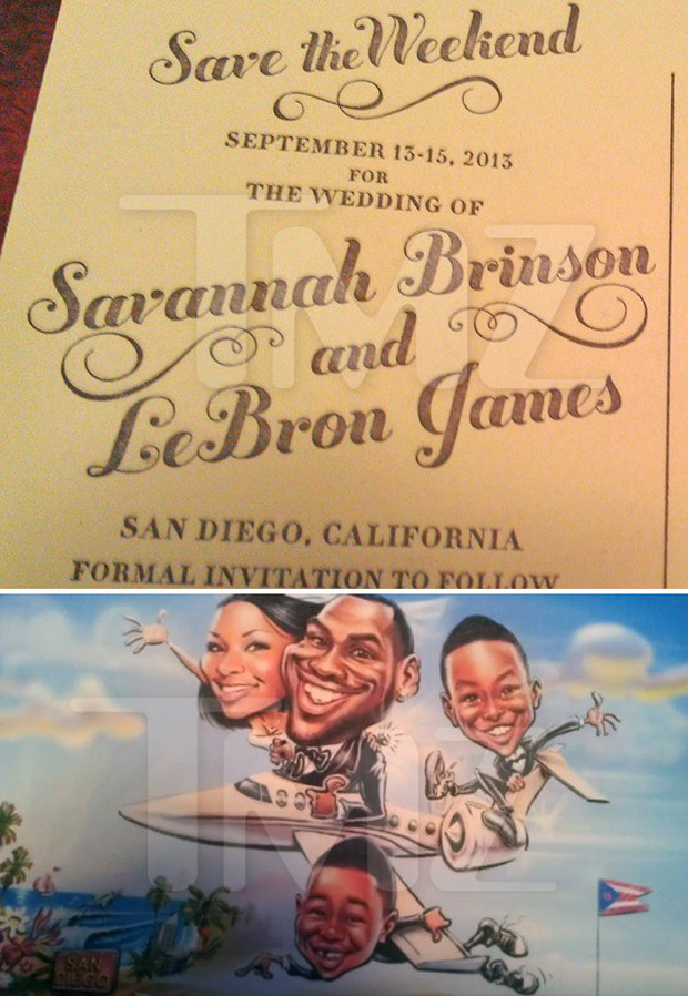 LeBron James y Savannah Brinson