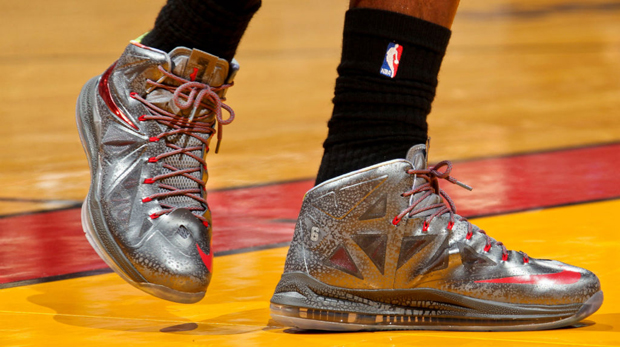Nike - LeBron X 'Pewter/Red'