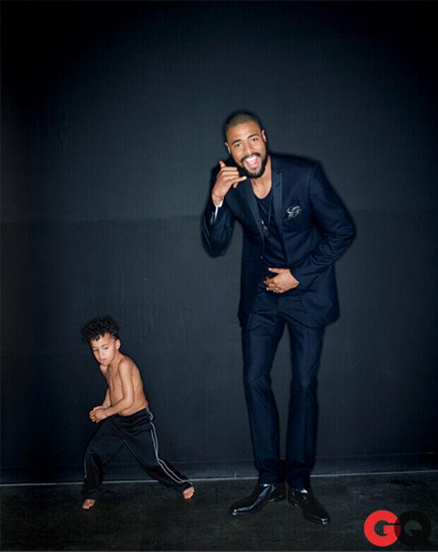 Tyson Chandler y su hijo, protagonistas de la revista GQ