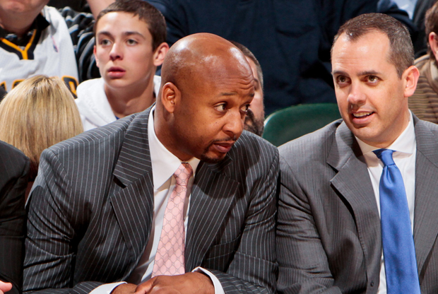 Brian Shaw y Frank Vogel./ Getty Images
