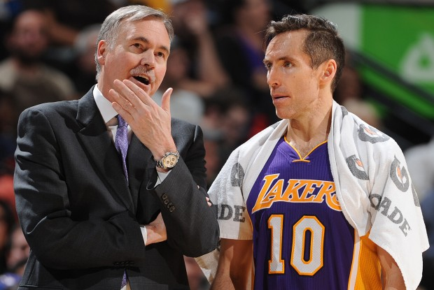 Mike D'Antoni y Steve Nash./ Getty Images