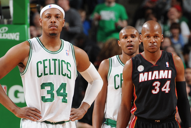 Paul Pierce y Ray Allen./ Getty Images