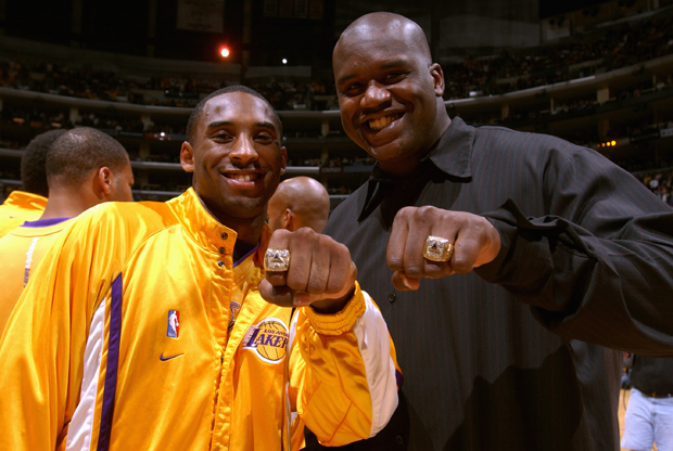 Kobe Bryant y Shaquille O'Neal./ Getty Images