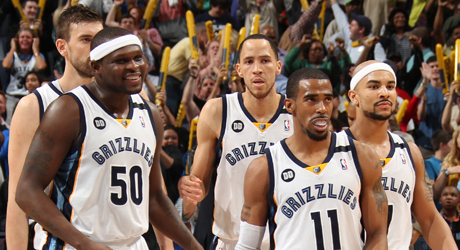 Marc Gasol, Zach Randolph, Tyshaun Prince, Mike Conley, Jerryd Bayless./ Getty Images