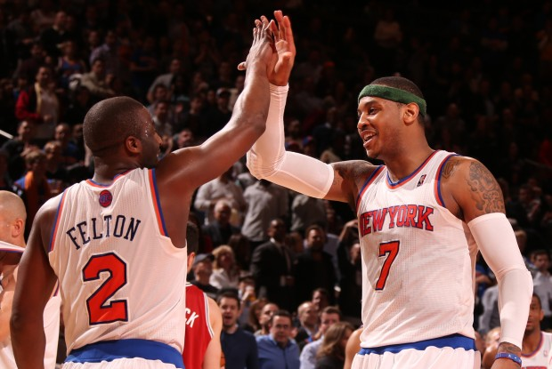 Raymond Felton y Carmelo Anthony./ Getty Images
