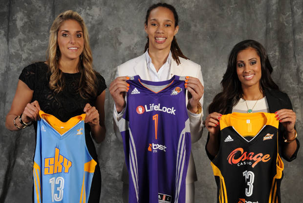 Elena Delle Donne, Brittney Griner y Skylar Diggins./ Getty Images