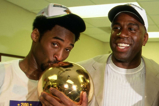 Magic Johnson y Kobe Bryant./ Getty Images