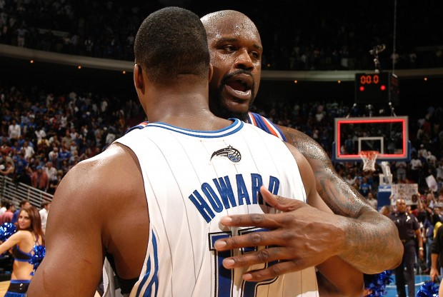Shaquille O'Neal y Dwight Howard./ Getty Images