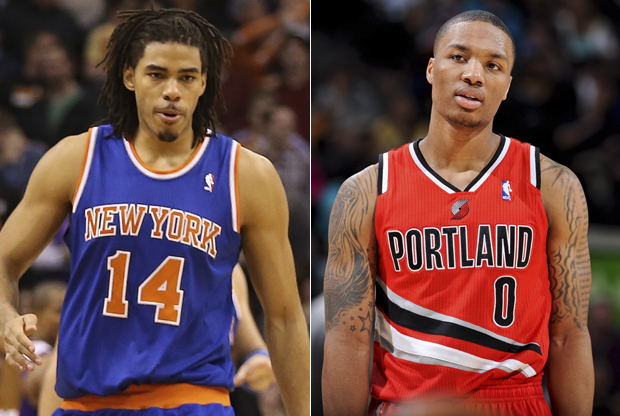 Chris Copeland y Damian Lillard./ Getty Images