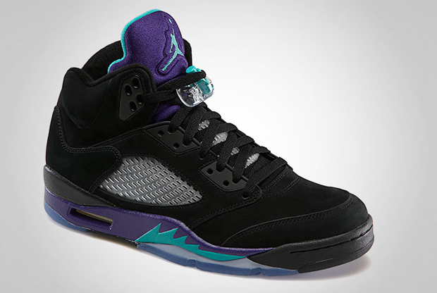 Air Jordan - V 'Black/New Emerald-Grape Ice'