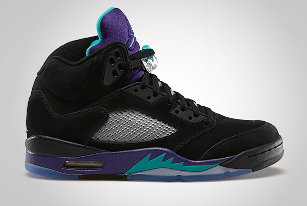 Air Jordan - V 'Black/New Emerald-Grape Ice'