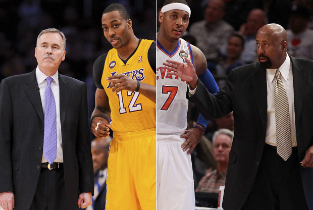 Mike D'Antoni y Mike Woodson./ Getty Images
