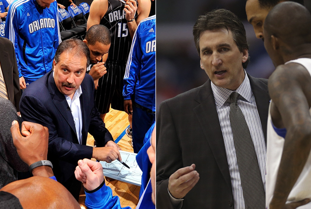 Stan Van Gundy y Vinny Del Negro./ Getty Images
