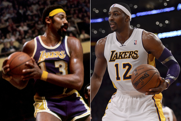 Wilt Chamberlain y Dwight Howard./ Getty Images