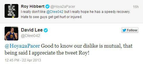 Twitter Roy Hibbert