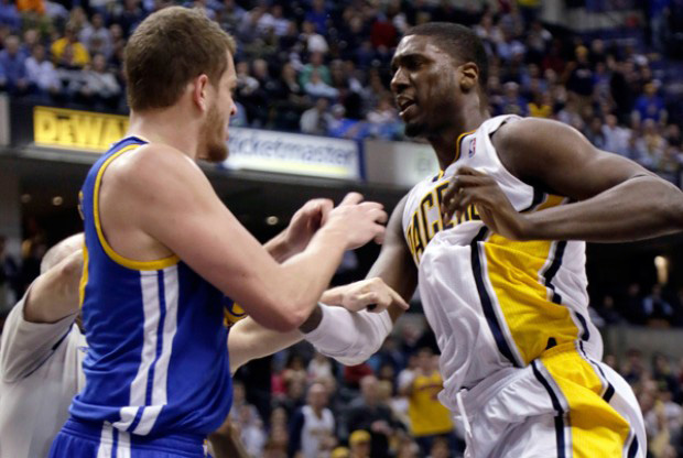 David Lee y Roy Hibbert./ Getty Images