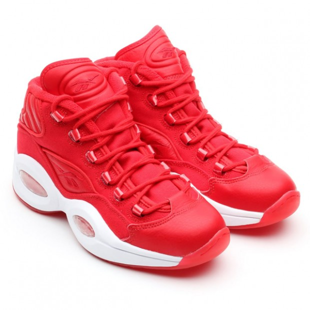 Reebok - Question Mid Canvas 'Red/White'