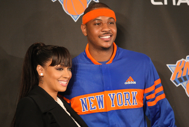 Lala Vázquez y Carmelo Anthony./ Getty Images