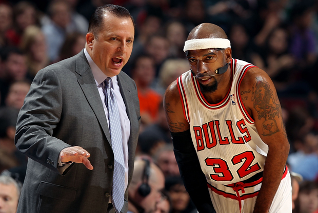 Tom Thibodeau y Rip Hamilton./ Getty Images