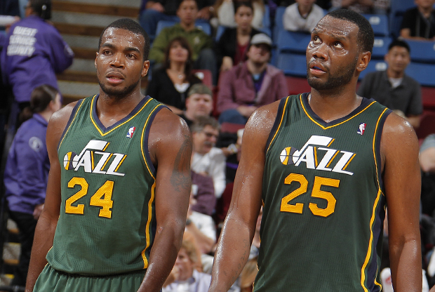 Paul Millsap y Al Jefferson./ Getty Images