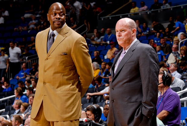 Patrick Ewing y Steve Clifford./ Getty Images