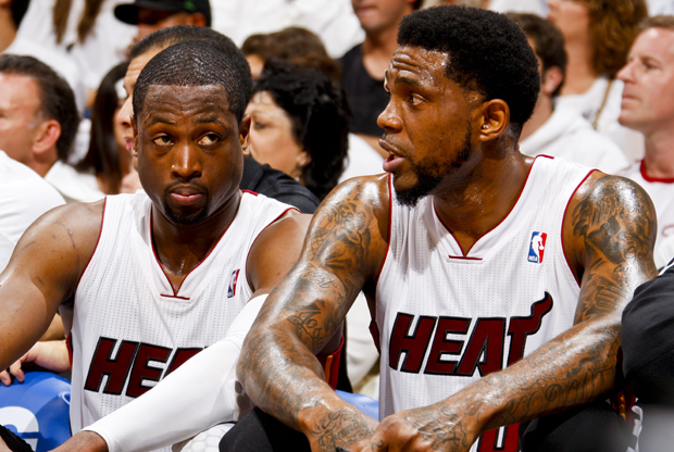 Dwyane Wade y Udonis Haslem./ Getty Images