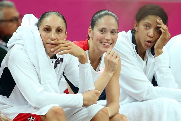 Diana Taurasi, Candace Parker y Sue Bird./ Getty Images