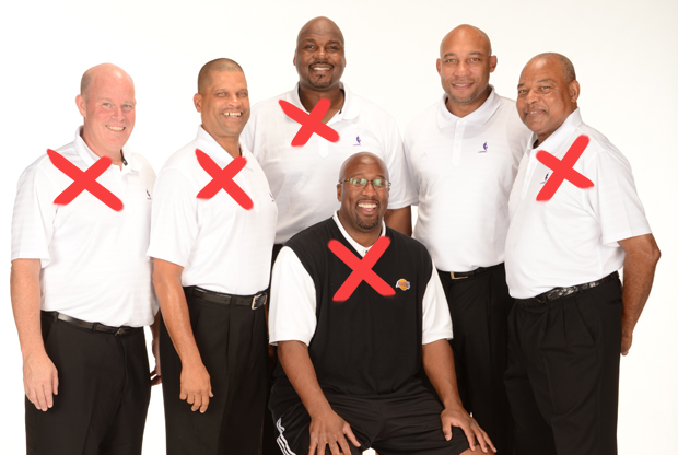 Steve Clifford, Eddie Jordan, Chuck Person, Darvin Ham, Bernie Bickerstaff y Mike Brown./ Getty Images