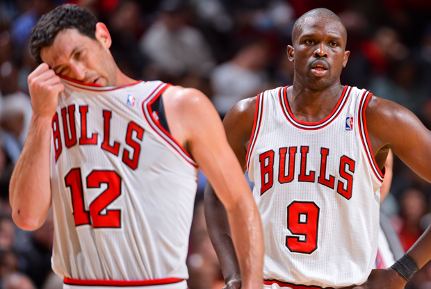 Kirk Hinrich y Luol Deng./ Getty Images