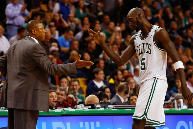 Doc Rivers y Kevin Garnett./ Getty Images