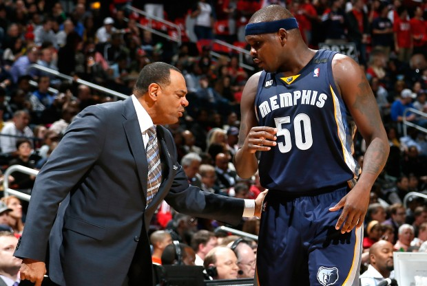 Lionel Hollins y Zach Randolph./ Getty Images