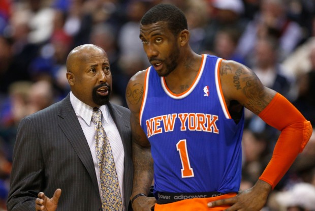 Mike Woodson y Amar'e Stoudemire./ Getty Images