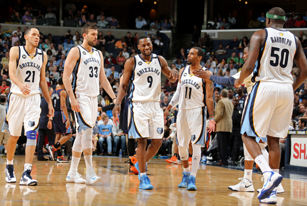 Tayshaun Prince, Marc Gasol, Tony Allen, Mike Conley y Zach Randolph./ Getty Images