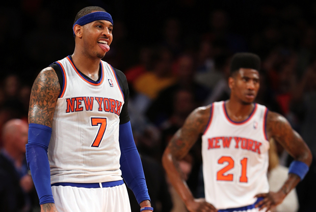 Carmelo Anthony y Iman Shumpert./ Getty Images