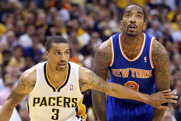 George Hill y J.R. Smith./ Getty Images
