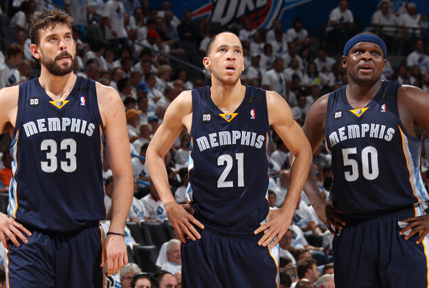 Marc Gasol, Tayshaun Prince y Zach Randolph./ Getty Images