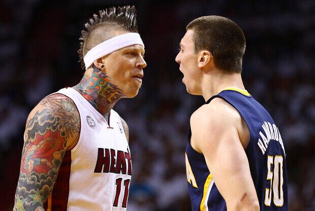 Chris Andersen y Tyler Hansbrough./ Getty Images