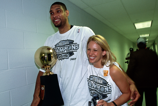 Tim Duncan y Amy./ Getty Images