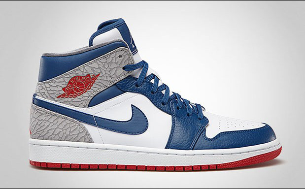 Air Jordan - 1 Mid 'True Blue'