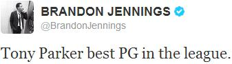 Brandon Jennings - Tony Parker