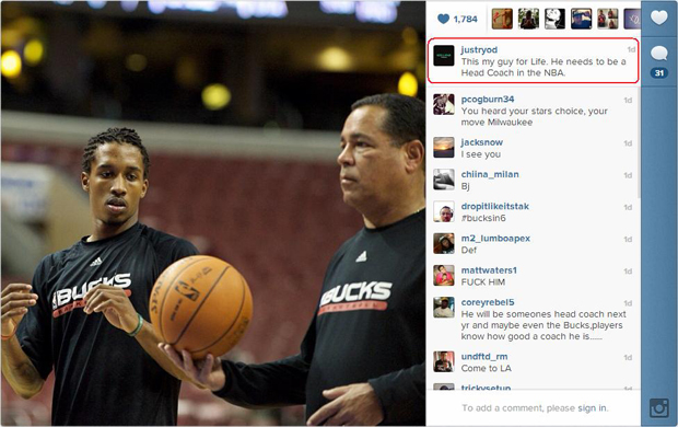 Brandon Jennings y Kelvin Sampson