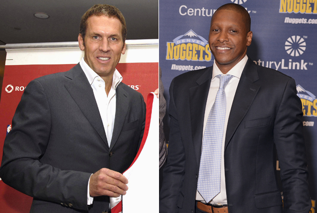 Bryan Colangelo y Masai Ujiri./ Getty Images
