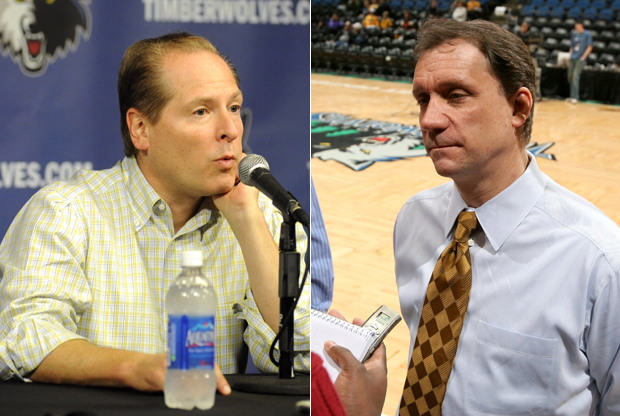 David Kahn y Flip Saunders./ Getty Images