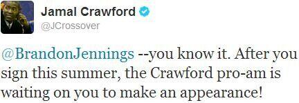 Jamal Crawford - Brandon Jennings
