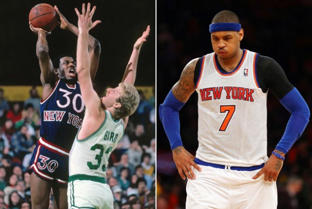 Bernard King y Carmelo Anthony./ Getty Images