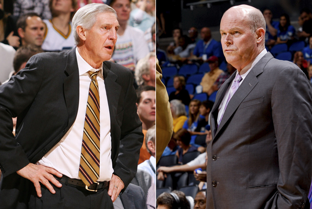 Jerry Sloan y Steve Clifford./ Getty Images