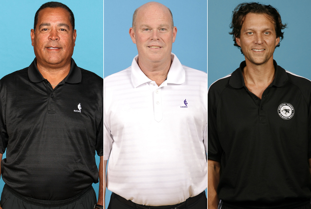 Kelvin Sampson, Steve Clifford y Quin Snyder./ Getty Images